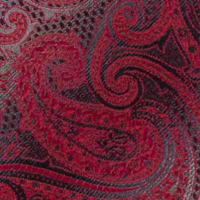 Van Heusen Men Sale: Red Van Heusen Textured Paisley Tie