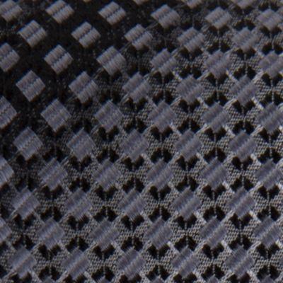 Young Men: Van Heusen Accessories: Black Van Heusen Square Un-Solid Solid Tie