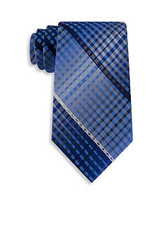 Van Heusen Multi Line Plaid Tie