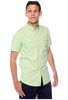 Request Dot Print Woven Shirt