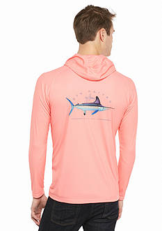 Guy Harvey Long Sleeve Clipper Hoodie Performance Shirt