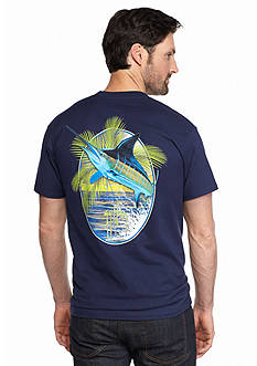 Guy Harvey Short Sleeve Sunset Palms Graphic Tee