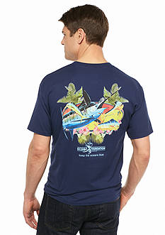 Guy Harvey Short Sleeve Bills and Bulls Graphic Tee
