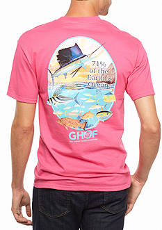 Guy Harvey Short Sleeve Ocean Wide Graphic Tee