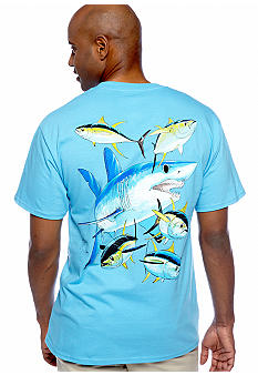 Guy Harvey Mako Shark Pocket Tee