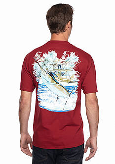Guy Harvey Short Sleeve Marlin And Boat 2 Graphic Tee
