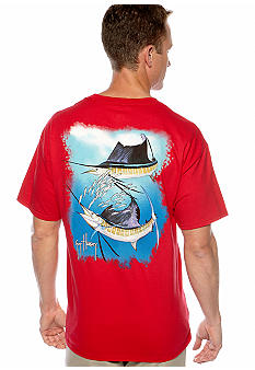 Guy Harvey Sailfish Spiral Graphic Tee