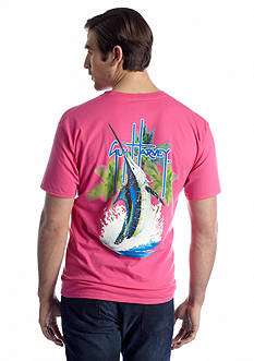 Guy Harvey Palm Tree Splash SS Tee