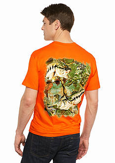 Guy Harvey Bass Camo Short Sleeve Tee