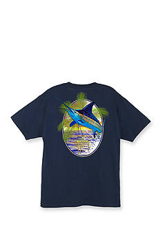 Guy Harvey Sunset Palms Short Sleeve Graphic Tee