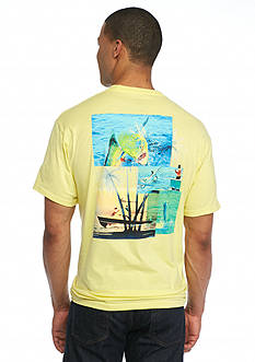 Guy Harvey Short Sleeve Dorado Palms Graphic Tee