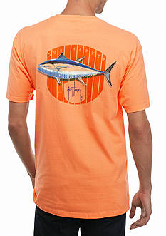 Guy Harvey Short Sleeve Blue Fin Tee