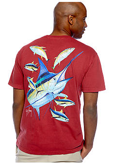 Guy Harvey Vintage Marlin & Yellowfin Pocket Tee