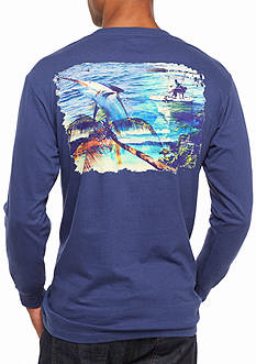 Guy Harvey Long Sleeve Whats It All About Graphic Tee