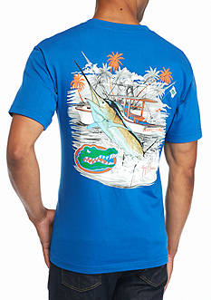 Guy Harvey Collegiate Boat University of Florida Short Sleeve Graphic Tee