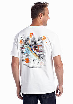 Guy Harvey Clemson University Boat Short Sleeve Tee