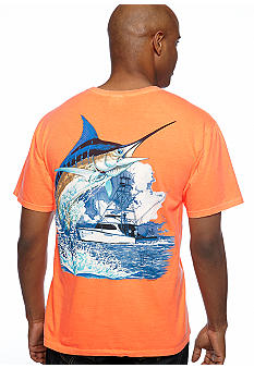 Guy Harvey Marlin Boat Neon Tee