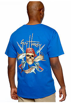 Guy Harvey Pirate Shark Neon Tee