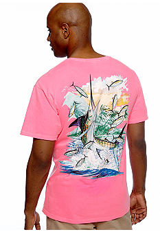 Guy Harvey Island Marlin Neon Tee