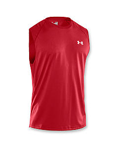 Under Armour Red Sleeveless Tech Tee