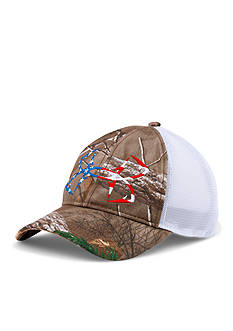 Under Armour Camo Fish Hook Cap