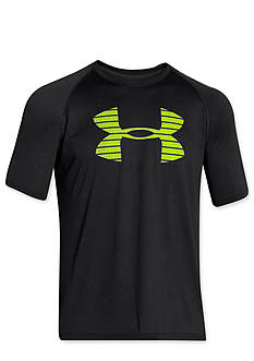 Under Armour® Core Broken Stripe Logo Tee