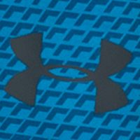 Basketball Clothes for Men: Brilliant Blue/Stealth Gray Under Armour 10-in. Raid Printed Short