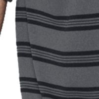 Mens Workout Shirts: Graphite/ Black/Steel Under Armour Tech Stripe Short Sleeve Shirt