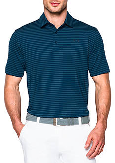 Under Armour Colorblock Address Stripe Polo Shirt