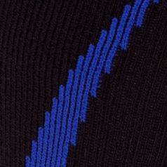 Mens Athletic Socks: Black/Royal Under Armour Undeniable Crew Socks