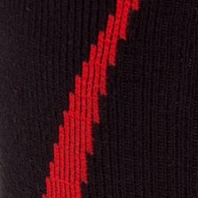 Mens Athletic Socks: Black/Red Under Armour Undeniable Crew Socks
