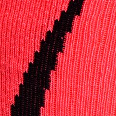 Under Armour: Cerise/Black Under Armour Undeniable Crew Socks