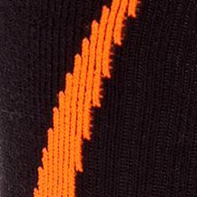 Mens Running Clothes: Blaze Orange/Black Under Armour Undeniable Crew Socks