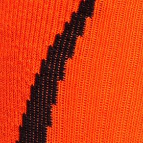 Under Armour: Black/Blaze Orange Under Armour Undeniable Crew Socks