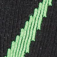 Everyday Essentials: Socks: Blak/Hyper Green Under Armour Big & Tall Undeniable Crew No Show Socks