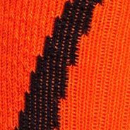 Big and Tall Socks: Black/Blaze Orange Under Armour Big & Tall Undeniable Crew No Show Socks