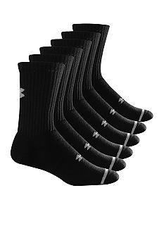 Under Armour Big & Tall 6-Pack Charged Cotton Crew Socks
