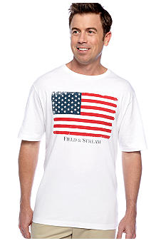 Field & Stream USA Flag Screenprint Tee