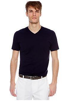 MADE Cam Newton Big & Tall Preppy Navy V-Neck Tee
