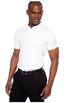MADE Cam Newton Big & Tall White Solid Polo