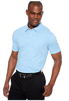 MADE Cam Newton Big & Tall Blue Sky Solid Polo