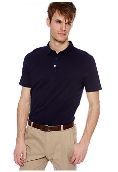 MADE Cam Newton Big & Tall Preppy Navy Solid Polo