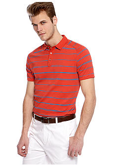 MADE Cam Newton Big & Tall Salix Coral Stripe Polo