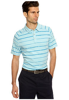 MADE Cam Newton Big & Tall Blue Topaz Stripe Polo