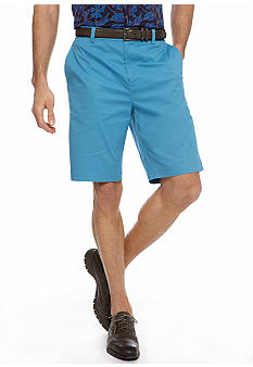 MADE Cam Newton Big & Tall Indie Blue Flat Front Shorts