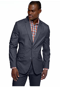 MADE Cam Newton Big & Tall Preppy Navy Blazer