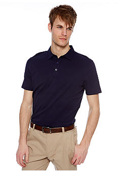 MADE Cam Newton Preppy Navy Solid Polo