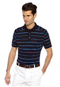 MADE Cam Newton Navy Stripe Polo