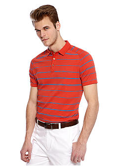 MADE Cam Newton Salix Coral Stripe Polo