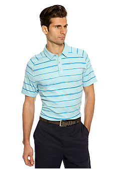 MADE Cam Newton Blue Topaz Stripe Polo
